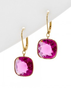 earrings 8 fushia
